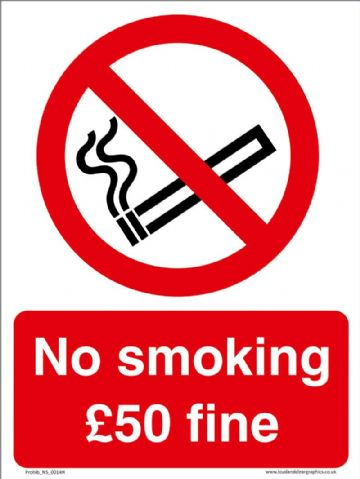 No smoking £50 fine